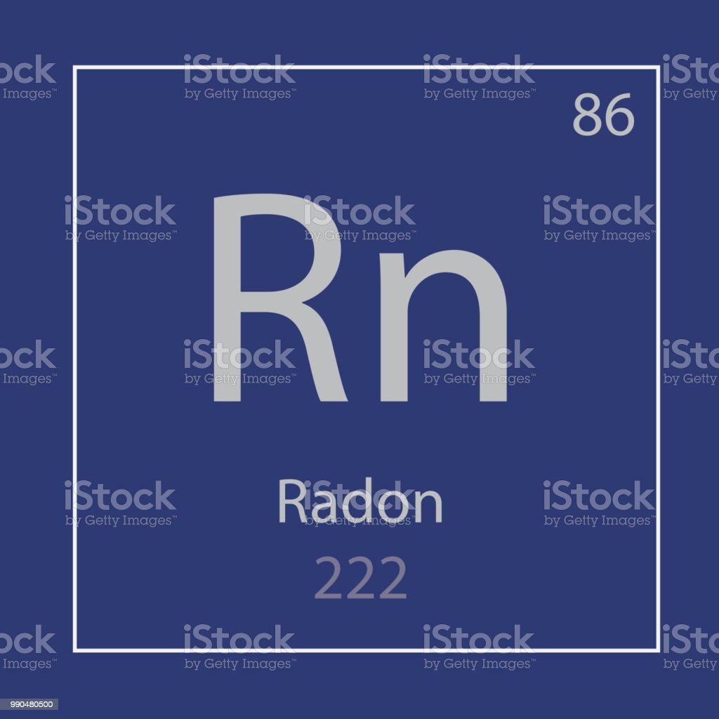 pictogram van het chemische element van de Rn van radon - Royalty-free Atoom vectorkunst