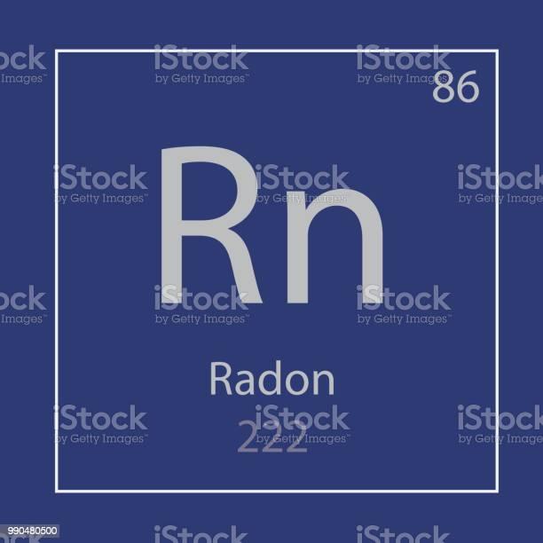 Pictogram Van Het Chemische Element Van De Rn Van Radon Stockvectorkunst en meer beelden van Atoom