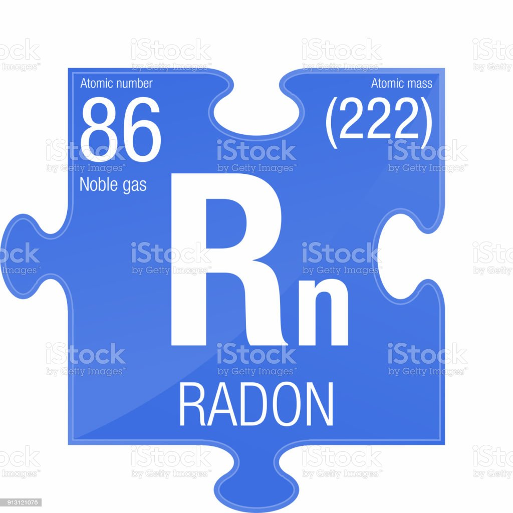 Radon Symbol Element Number 86 Of The Periodic Table Of The Elements