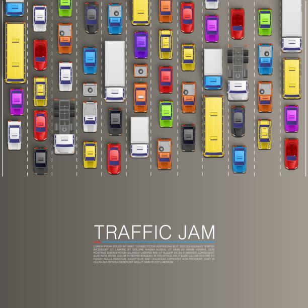 raffic jam on the road - traffic 幅插畫檔、美工圖案、卡通及圖標