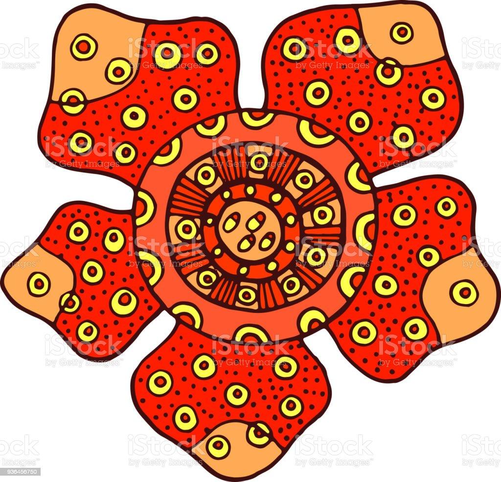 Rafflesia Flower Isolated Element Cartoon Color Flower Hand Drawn