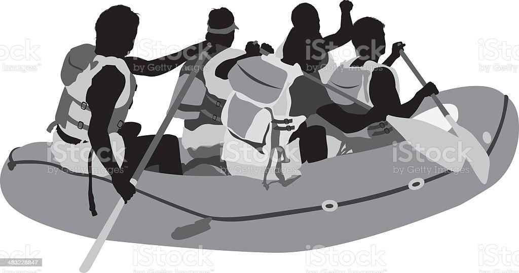 Rafting trip royalty-free stock vector art
