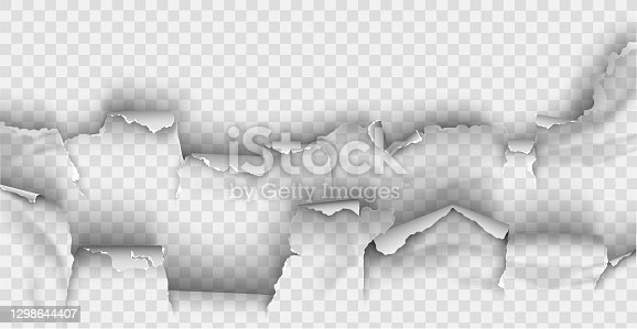istock ragged Hole torn in ripped paper on transparent background 1298644407