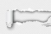 istock ragged Hole torn in ripped paper on transparent background 936349636