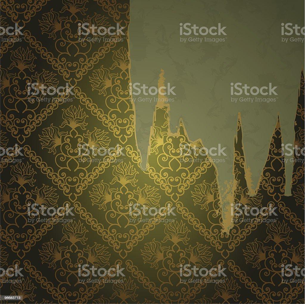 ragged wallpaper royalty-free stock vector art