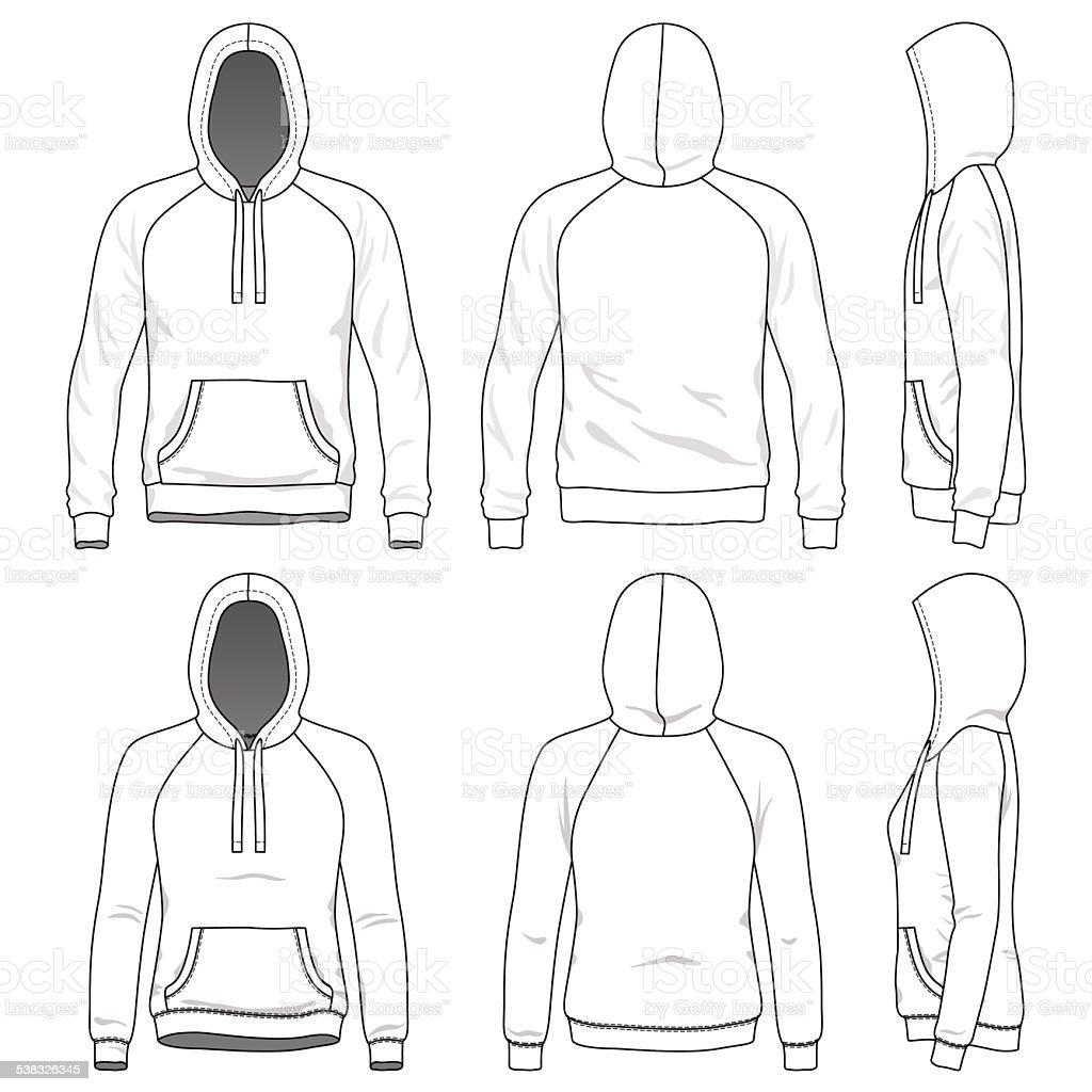 Bluza Z Kapturem Adidas Raglan Stockowe grafiki wektorowe