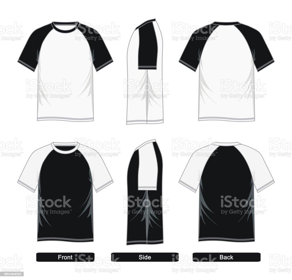 raglan sleeve shirt templates black white stock vector art more