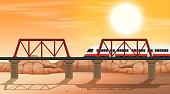 A rail at desert scene