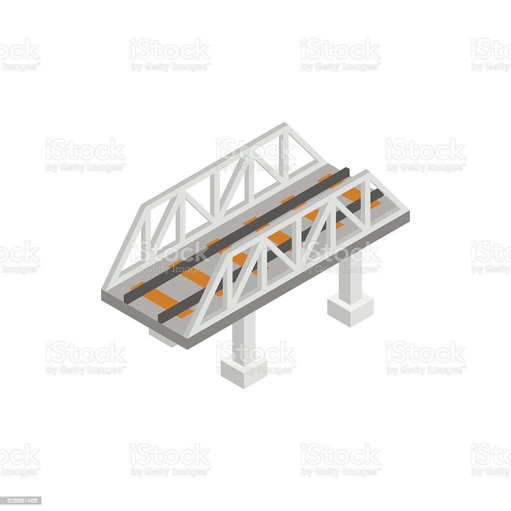 Rail Bridge Isometric 3d Icon Stock Vector Art More Images Of Cantilever Diagram Related Keywords Royalty Free