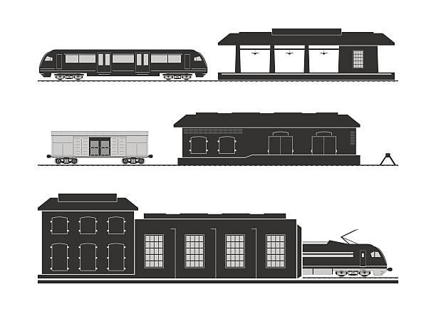 Rail infrastructure vector art illustration