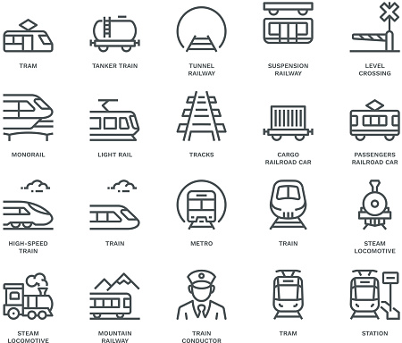 train transportation stock illustrations