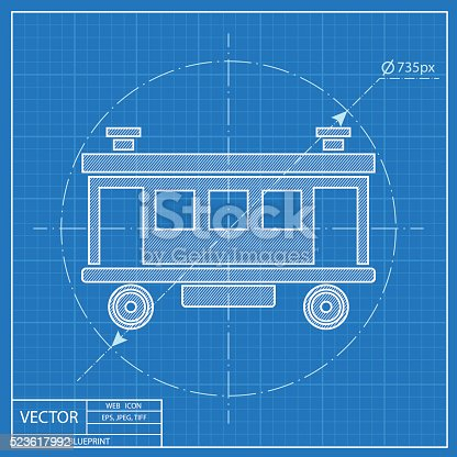 Railroad car vector icon blueprint style stock vector art 523617992 railroad car vector icon blueprint style stock vector art 523617992 istock malvernweather Image collections