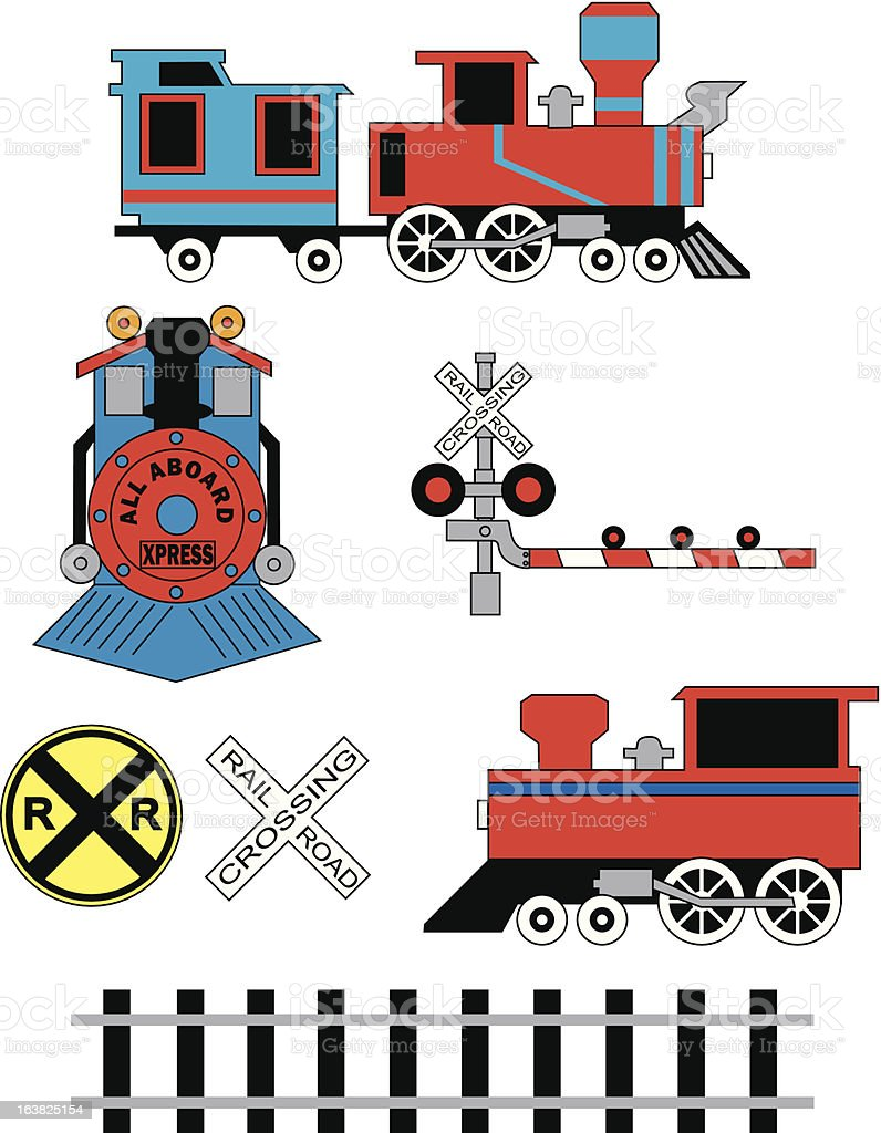 Railroad Collection vector art illustration