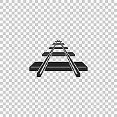 istock Railroad icon isolated on transparent background. Flat design. Vector Illustration 1076802768