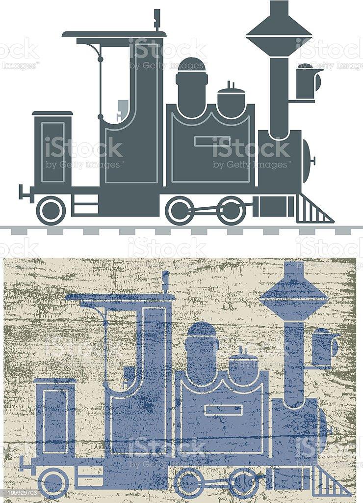 Railroad loco royalty-free stock vector art