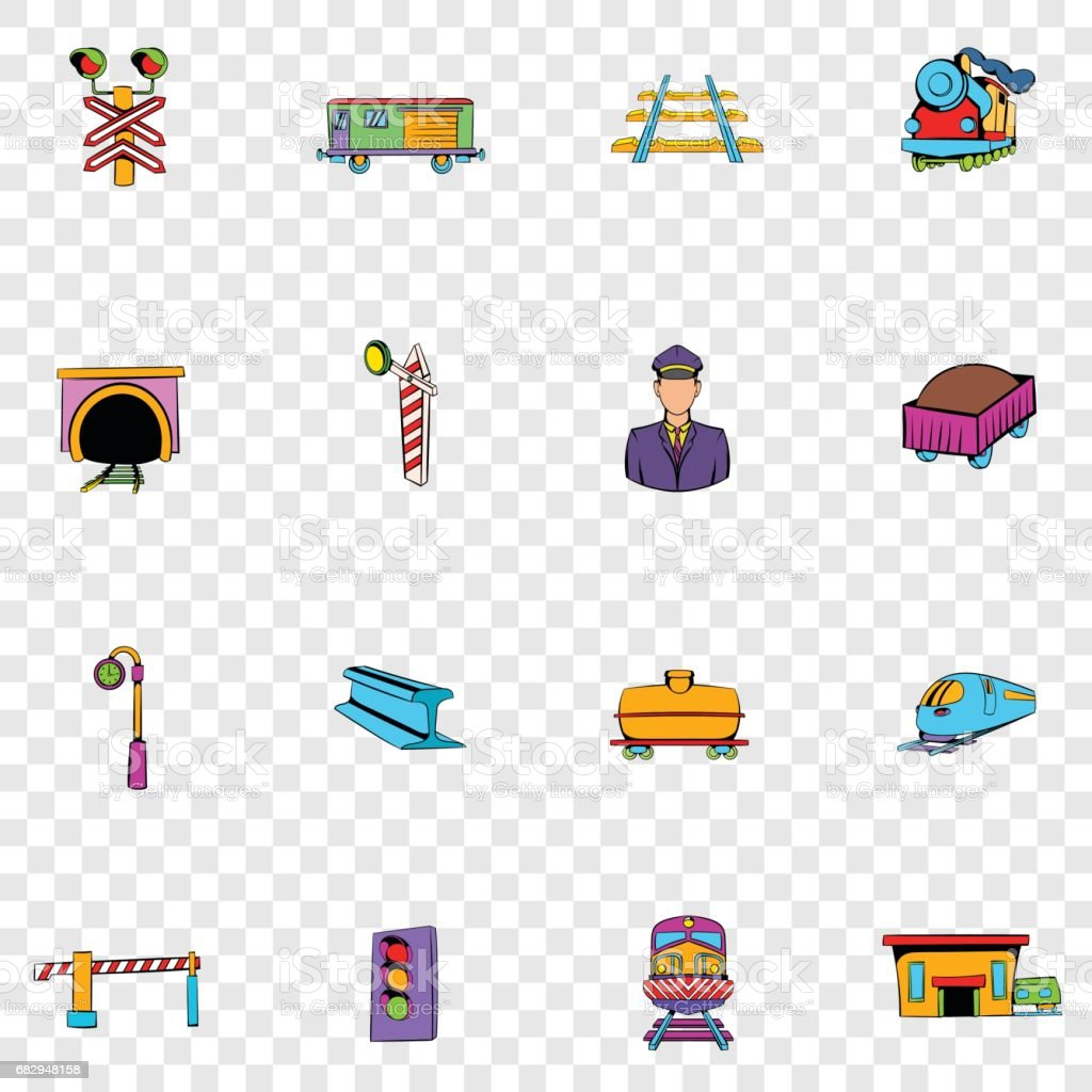 Railroad set icons royalty-free railroad set icons stock vector art & more images of business finance and industry