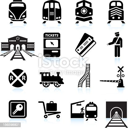 Railroad Station and Service black & white icon sethttp://www.belyj.com/i/black.jpg