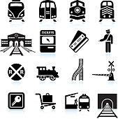 Railroad Station and Service black & white icon sethttp://www.belyj.com/i/black.jpg