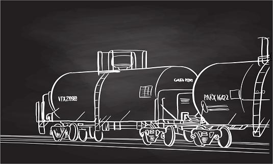 Railroad Tank Car Chalkboard