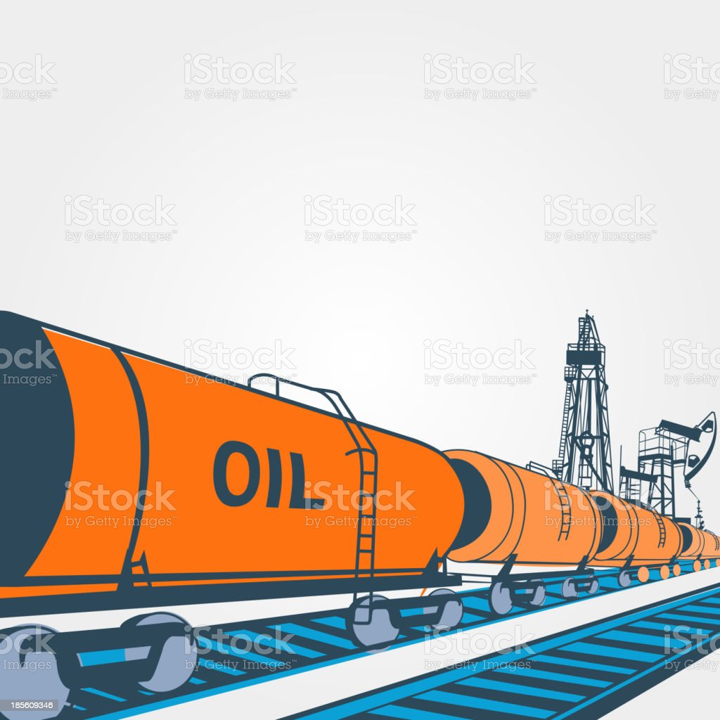 Railroad tank wagon on a white background. royalty-free railroad tank wagon on a white background stock vector art & more images of barrel