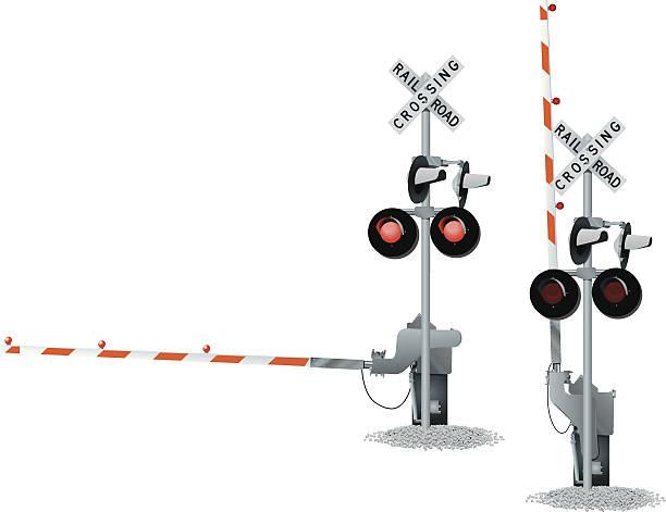 railroad track crossing - crossing stock illustrations, clip art, cartoons, & icons