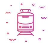 istock Railroad Train Line Style Icon Design 1156077708