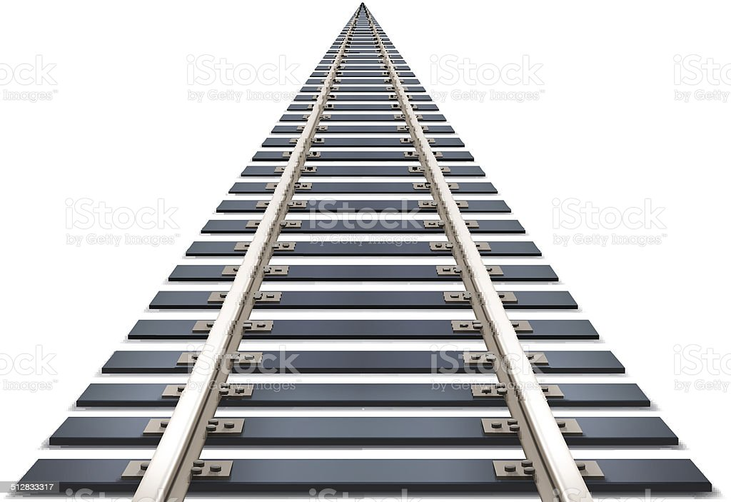 royalty free railroad track clip art vector images illustrations rh istockphoto com train track clipart border railroad track clipart free