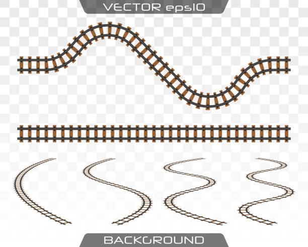 illustrations, cliparts, dessins animés et icônes de rails et traverses. vector. - voie ferrée