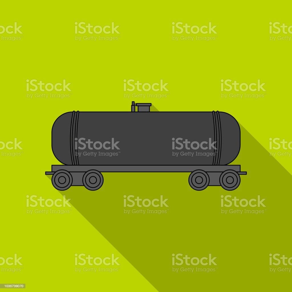 Railway Tank Caroil Single Icon In Flat Style Vector Symbol Stock