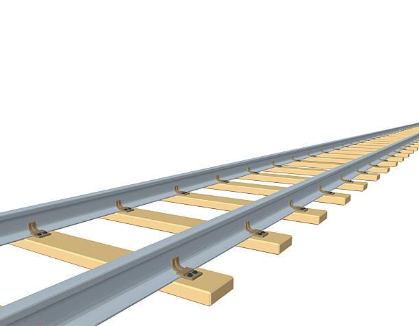 railway track. 3d vector illustration. - railroad track stock illustrations, clip art, cartoons, & icons