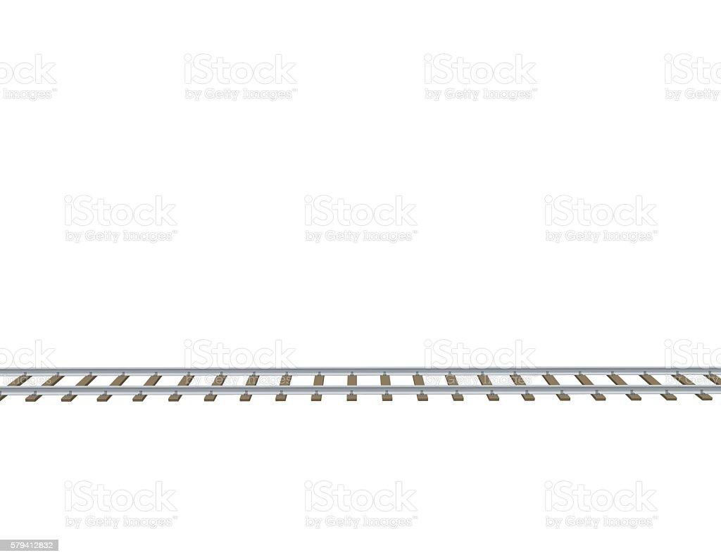 Railway track. 3d Vector illustration.Side view. – Vektorgrafik