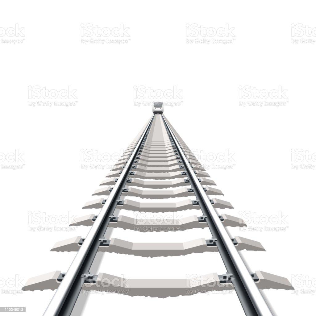 Railway vector art illustration