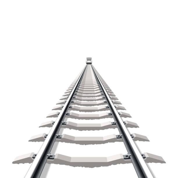 railway - railroad track stock illustrations, clip art, cartoons, & icons