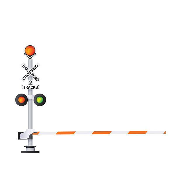 railway warning sign - crossing stock illustrations, clip art, cartoons, & icons
