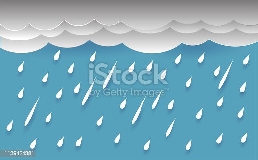 rain and cloud, vector design