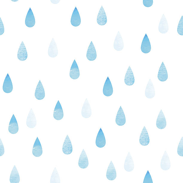 Rain blue seamless drops Rain blue seamless vector watercolor pattern, rainy isolated background raindrop stock illustrations
