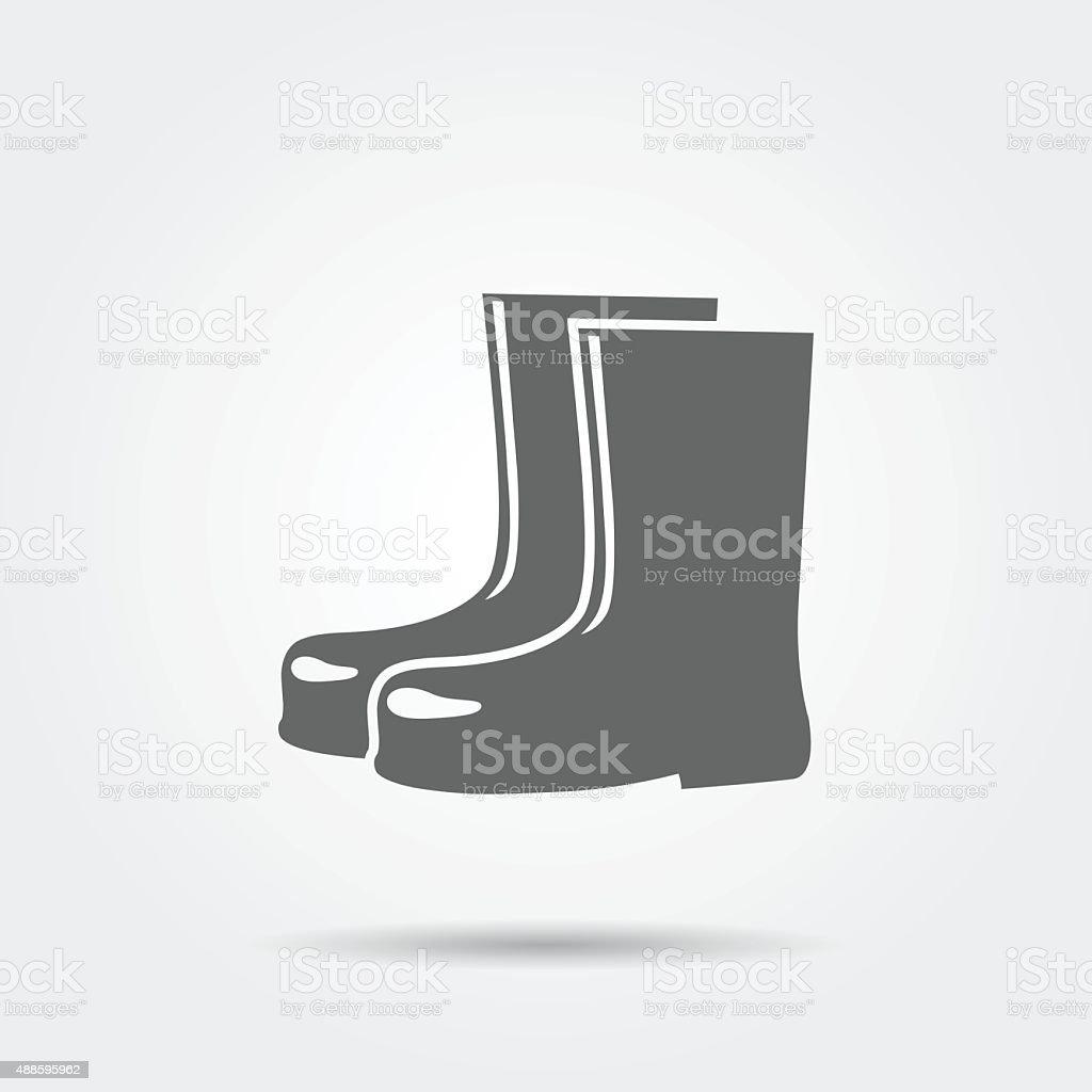 Rain boots icon vector art illustration