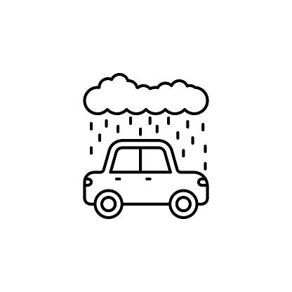 Rain car carwash cloud icon. Element of car wash thin line icon