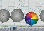 Rain Drain and Umbrellas!