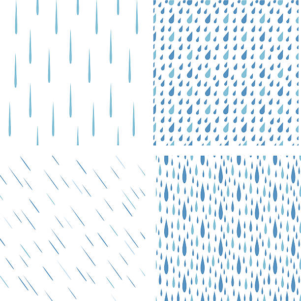 Rain drops pattern vector set – Vektorgrafik