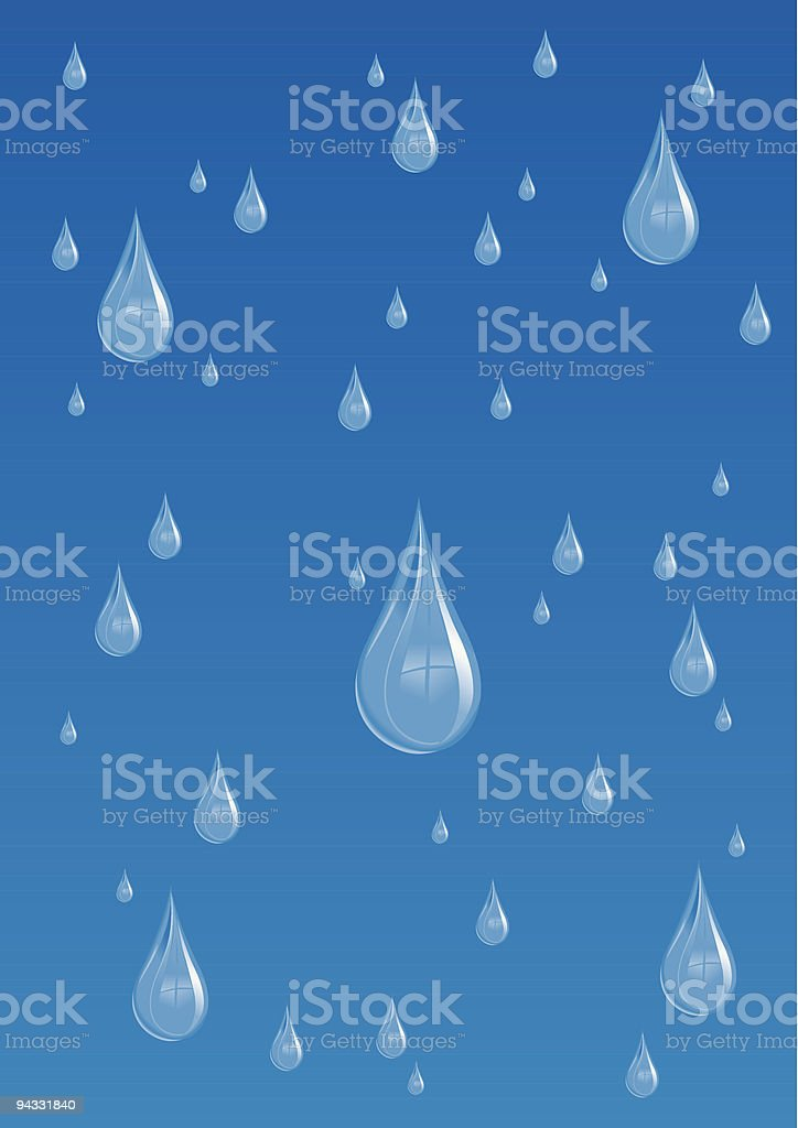 Rain Drops (vector and jpg) royalty-free rain drops stock vector art & more images of backgrounds
