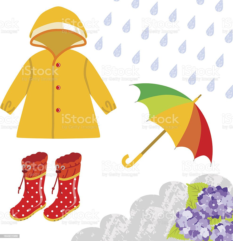 Royalty Free Rain Coat Clip Art Vector Images