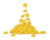 Rain gold euro cartoon frame