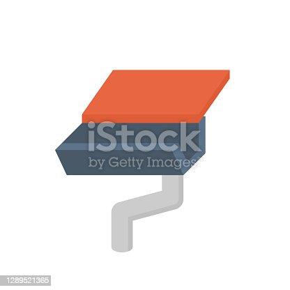 istock Rain gutter vector icon design. 1289521365
