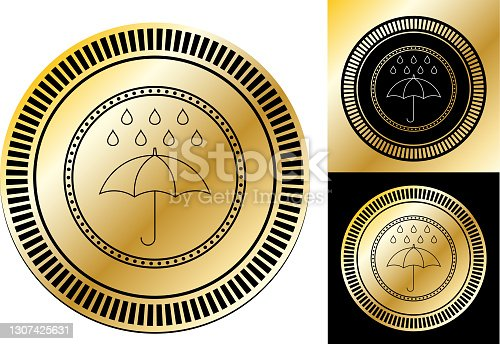 istock Rain Icon 1307425631