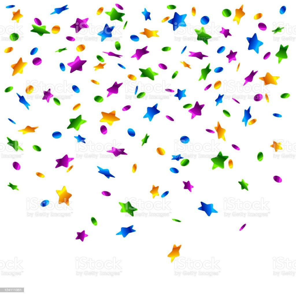Rain of confetti vector art illustration