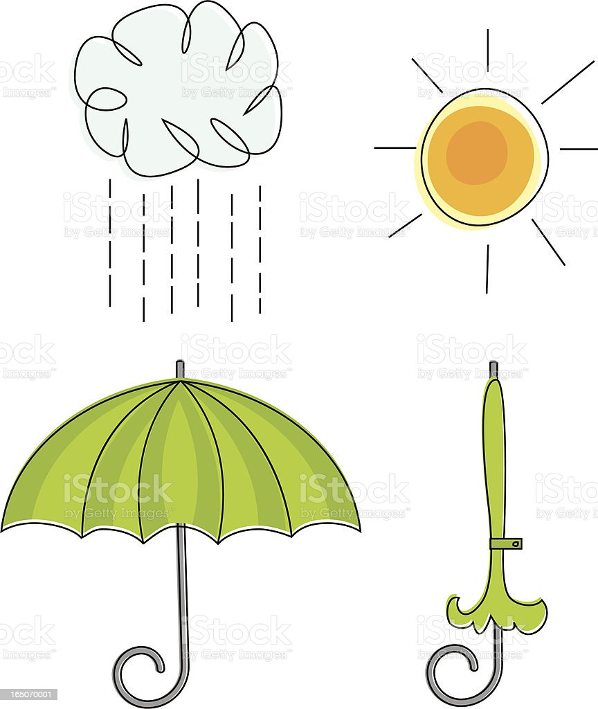 Rain or Shine vector art illustration