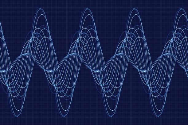 rain sine wave line pattern horizontal - sine wave stock illustrations