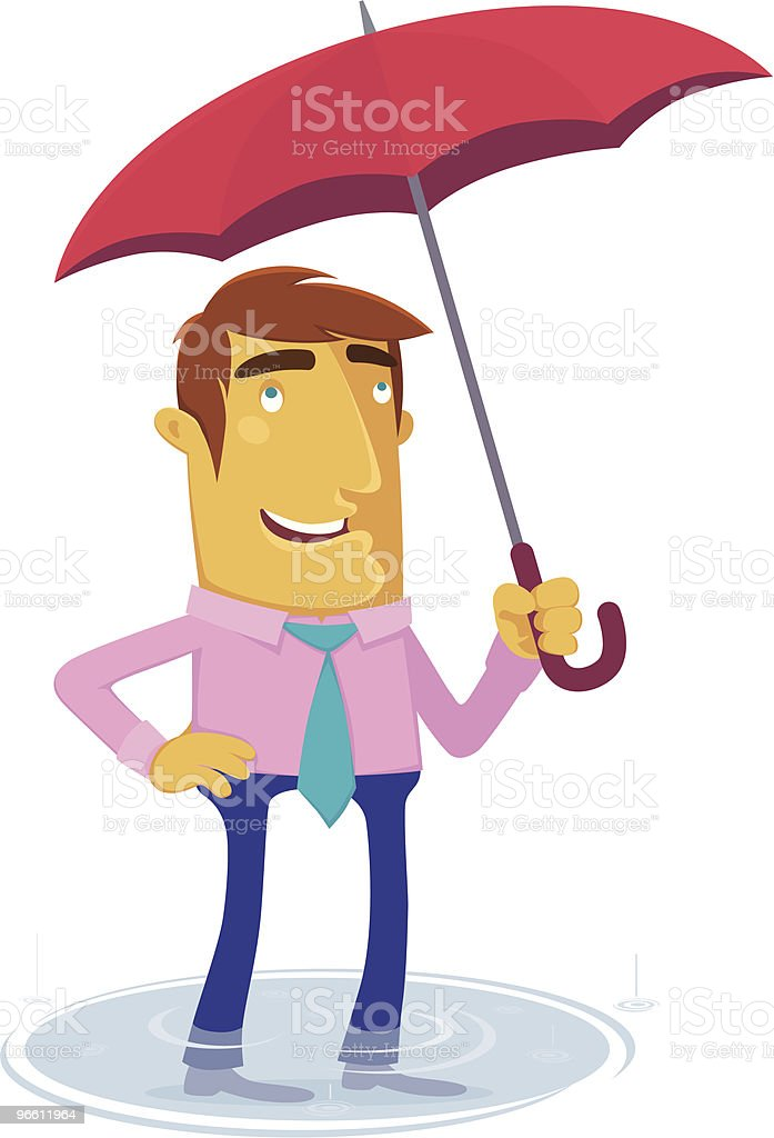 Regen fallen??? - Lizenzfrei Abwarten Vektorgrafik