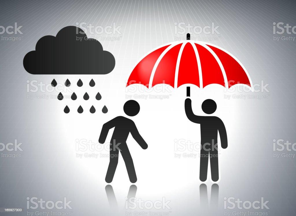 Rain Storm and Umbrella Business Concept Stick Figures royalty-free rain storm and umbrella business concept stick figures stock vector art & more images of achievement
